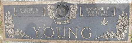 YOOUNG, RAYMOND E - Muskingum County, Ohio | RAYMOND E YOOUNG - Ohio Gravestone Photos