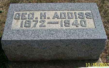 ADDISS, GEO.H. - Noble County, Ohio | GEO.H. ADDISS - Ohio Gravestone Photos