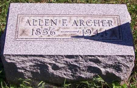 ARCHER, ALLEN F. - Noble County, Ohio | ALLEN F. ARCHER - Ohio Gravestone Photos