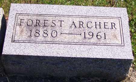 ARCHER, FOREST - Noble County, Ohio | FOREST ARCHER - Ohio Gravestone Photos