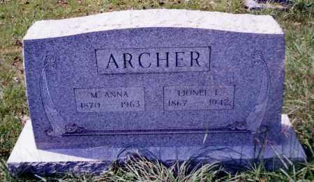 ARCHER, LIONEL L. - Noble County, Ohio | LIONEL L. ARCHER - Ohio Gravestone Photos