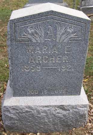 ARCHER, MARIA E. - Noble County, Ohio | MARIA E. ARCHER - Ohio Gravestone Photos