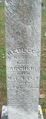 ARCHER, REBECCA - Noble County, Ohio | REBECCA ARCHER - Ohio Gravestone Photos