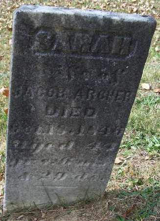 ARCHER, SARAH - Noble County, Ohio | SARAH ARCHER - Ohio Gravestone Photos