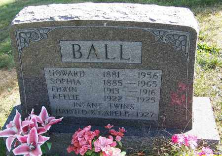 BALL, HOWARD - Noble County, Ohio | HOWARD BALL - Ohio Gravestone Photos