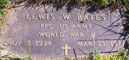 BATES, LEWIS W. - Noble County, Ohio   LEWIS W. BATES - Ohio Gravestone Photos