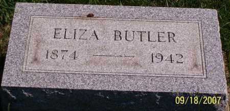BUTLER, ELIZA - Noble County, Ohio   ELIZA BUTLER - Ohio Gravestone Photos