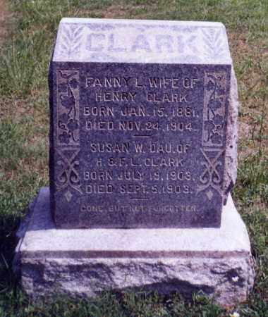 CLARK, FANNY L. - Noble County, Ohio | FANNY L. CLARK - Ohio Gravestone Photos