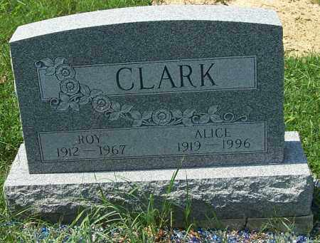 CLARK, ALICE - Noble County, Ohio | ALICE CLARK - Ohio Gravestone Photos
