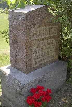 HAINES, WILLIAM - Noble County, Ohio | WILLIAM HAINES - Ohio Gravestone Photos