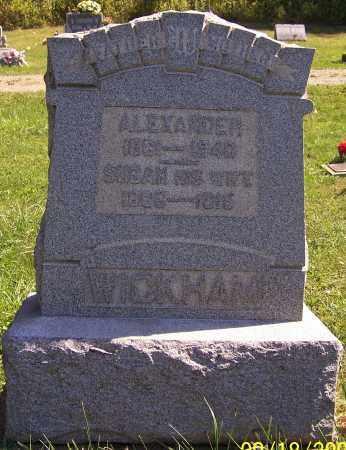 WICKHAM, SUSAN - Noble County, Ohio | SUSAN WICKHAM - Ohio Gravestone Photos