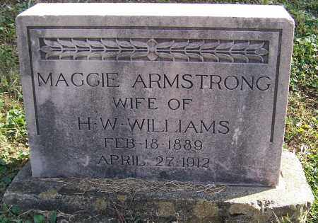 ARMSTRONG WILLIAMS, MAGGIE - Noble County, Ohio   MAGGIE ARMSTRONG WILLIAMS - Ohio Gravestone Photos