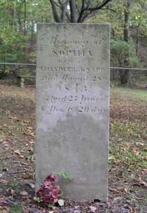 KNAPP, SOPHIA - Ottawa County, Ohio | SOPHIA KNAPP - Ohio Gravestone Photos
