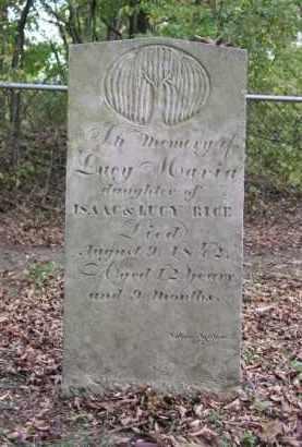 RICE, LUCY MARIA - Ottawa County, Ohio | LUCY MARIA RICE - Ohio Gravestone Photos