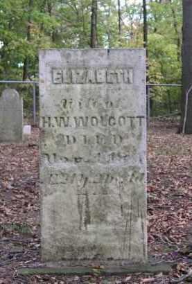 WOLCOTT, ELIZABETH - Ottawa County, Ohio | ELIZABETH WOLCOTT - Ohio Gravestone Photos