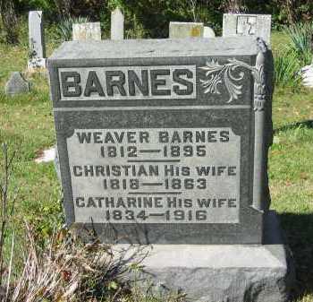 BARNES, WEAVER - Perry County, Ohio | WEAVER BARNES - Ohio Gravestone Photos