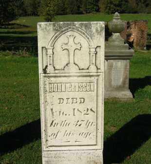 CROSSON, JOHN - Perry County, Ohio | JOHN CROSSON - Ohio Gravestone Photos