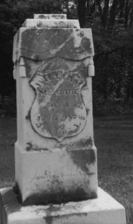 MCCABE, WILLLIAM - Perry County, Ohio | WILLLIAM MCCABE - Ohio Gravestone Photos