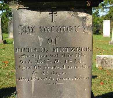METZGER, MICHAEL - Perry County, Ohio   MICHAEL METZGER - Ohio Gravestone Photos