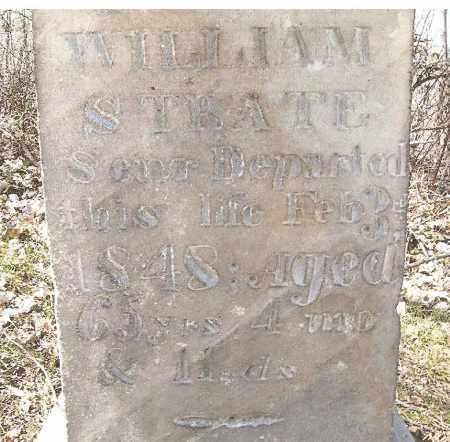 STRATE, WILLIAM - Perry County, Ohio | WILLIAM STRATE - Ohio Gravestone Photos