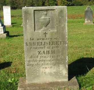 ZAHM, ANN ELISEBETH - Perry County, Ohio | ANN ELISEBETH ZAHM - Ohio Gravestone Photos