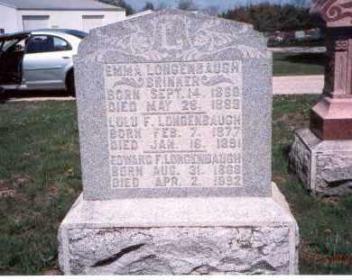 LONGENBAUGH BRINKER, EMMA - Pickaway County, Ohio | EMMA LONGENBAUGH BRINKER - Ohio Gravestone Photos