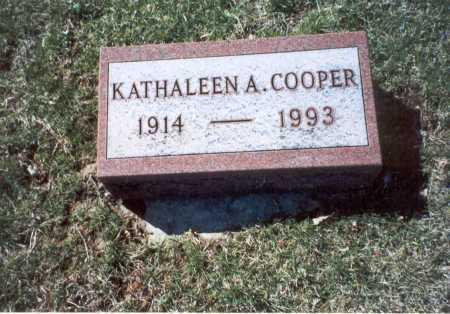 COOPER, KATHALEEN A. - Pickaway County, Ohio | KATHALEEN A. COOPER - Ohio Gravestone Photos
