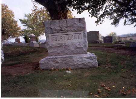 COURTRIGHT, GRAVESTONE - Pickaway County, Ohio | GRAVESTONE COURTRIGHT - Ohio Gravestone Photos