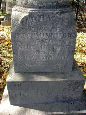 DUNNUCK, MARY R. - Pickaway County, Ohio   MARY R. DUNNUCK - Ohio Gravestone Photos
