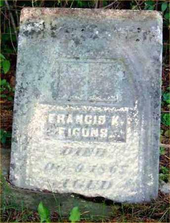 FIGONS, FRANCIS K. - Pickaway County, Ohio   FRANCIS K. FIGONS - Ohio Gravestone Photos