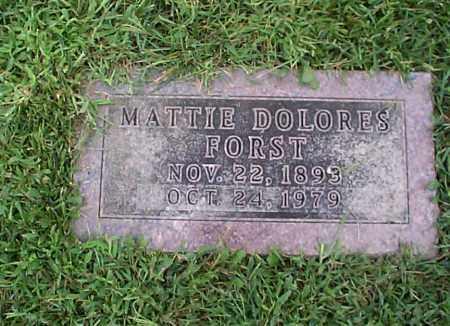 FORST, MATTIE DOLORES - Pickaway County, Ohio | MATTIE DOLORES FORST - Ohio Gravestone Photos