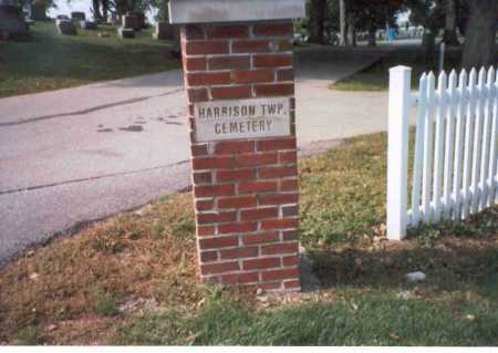 HARRISON TWP. CEMETERY, VIEW OF ENTRANCE - Pickaway County, Ohio | VIEW OF ENTRANCE HARRISON TWP. CEMETERY - Ohio Gravestone Photos