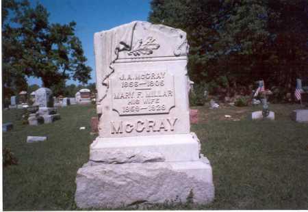 MCCRAY, J. A. - Pickaway County, Ohio   J. A. MCCRAY - Ohio Gravestone Photos