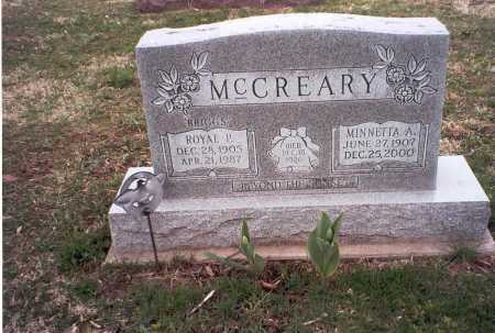 MCCREARY, ROYAL  P. - Pickaway County, Ohio | ROYAL  P. MCCREARY - Ohio Gravestone Photos