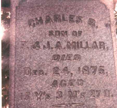 MILLAR, CHARLES R. - Pickaway County, Ohio | CHARLES R. MILLAR - Ohio Gravestone Photos