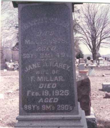 MILLAR, JANE A - Pickaway County, Ohio | JANE A MILLAR - Ohio Gravestone Photos