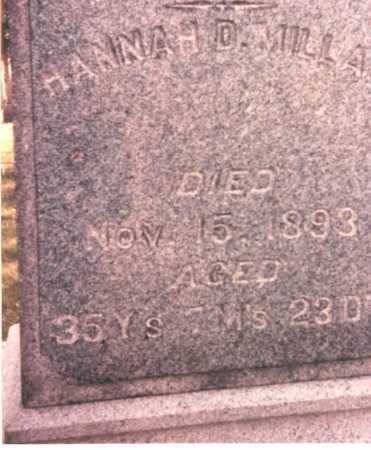 MILLAR, HANNAH D. - Pickaway County, Ohio   HANNAH D. MILLAR - Ohio Gravestone Photos