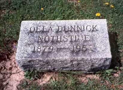 DUNNICK NOTHSTINE, OELA - Pickaway County, Ohio | OELA DUNNICK NOTHSTINE - Ohio Gravestone Photos