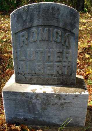 ROMICK, LUTHER ALBERT - Pickaway County, Ohio   LUTHER ALBERT ROMICK - Ohio Gravestone Photos