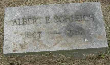 SCHLEICH, ALBERT E - Pickaway County, Ohio | ALBERT E SCHLEICH - Ohio Gravestone Photos