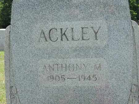 ACKLEY, ANTHONY M. - Pike County, Ohio | ANTHONY M. ACKLEY - Ohio Gravestone Photos