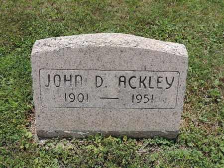 ACKLEY, JOHN D. - Pike County, Ohio | JOHN D. ACKLEY - Ohio Gravestone Photos