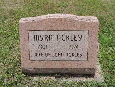 ACKLEY, MYRA - Pike County, Ohio   MYRA ACKLEY - Ohio Gravestone Photos