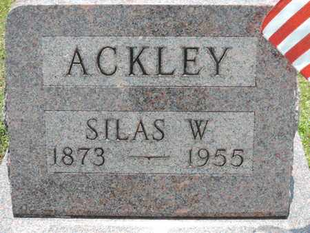 ACKLEY, SILAS W. - Pike County, Ohio | SILAS W. ACKLEY - Ohio Gravestone Photos