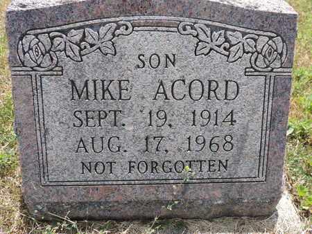 ACORD, MIKE - Pike County, Ohio   MIKE ACORD - Ohio Gravestone Photos