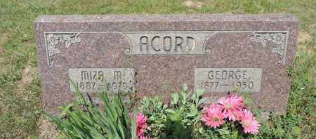 ACORD, GEORGE - Pike County, Ohio | GEORGE ACORD - Ohio Gravestone Photos