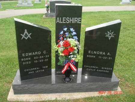 ALESHIRE, EDWARD - Pike County, Ohio | EDWARD ALESHIRE - Ohio Gravestone Photos