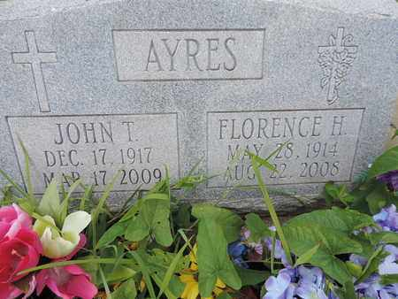 AYRES, FLORENCE H - Pike County, Ohio | FLORENCE H AYRES - Ohio Gravestone Photos