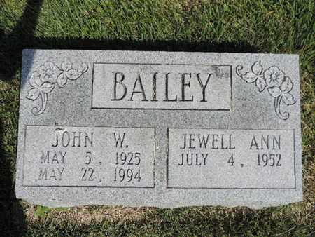 BAILEY, JOHN W. - Pike County, Ohio | JOHN W. BAILEY - Ohio Gravestone Photos
