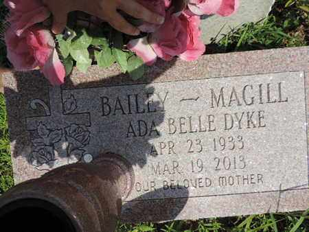 BAILEY-MAGILL, ADA BELLE - Pike County, Ohio | ADA BELLE BAILEY-MAGILL - Ohio Gravestone Photos